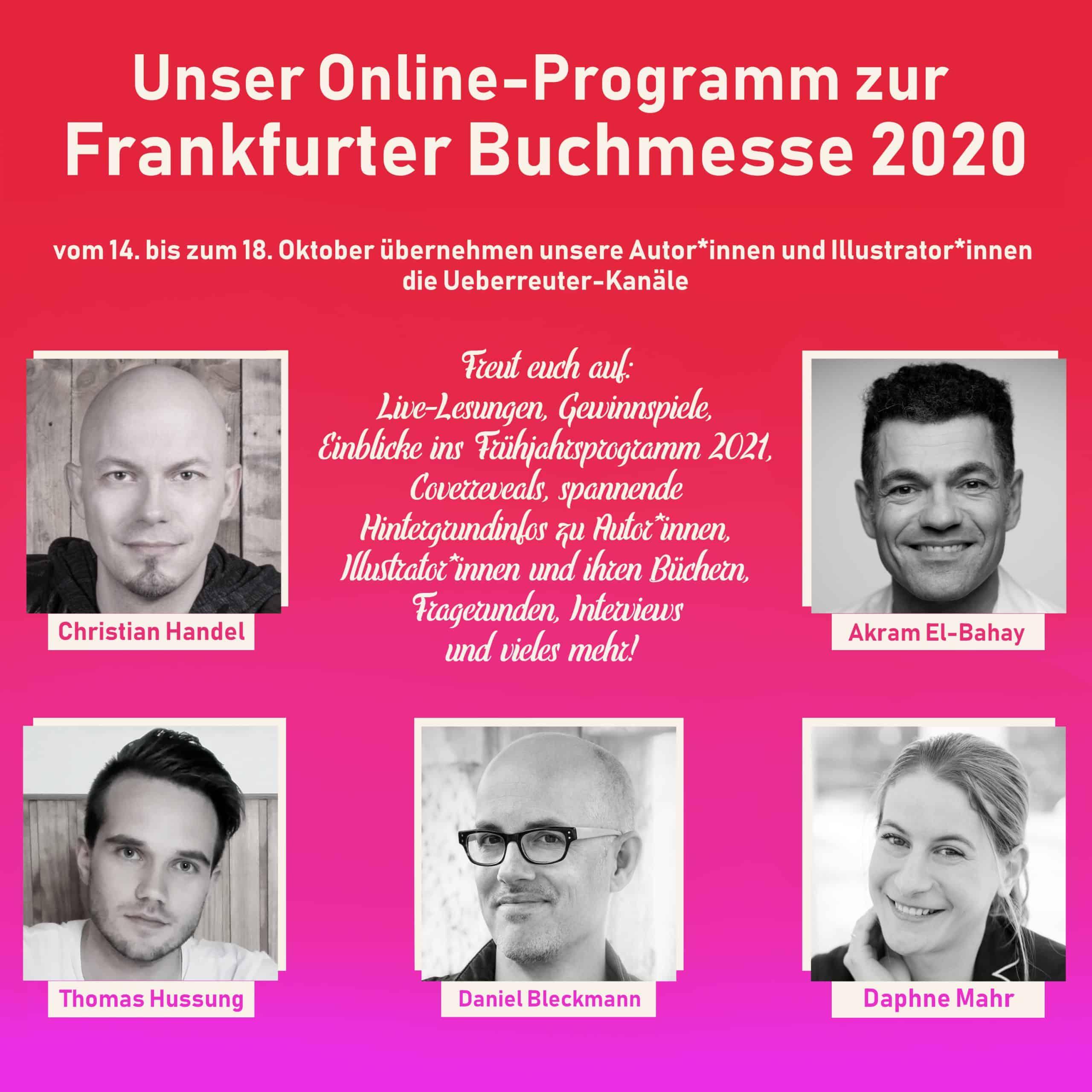 Unser Online-Programm zur Frankfurter Buchmesse 2020!